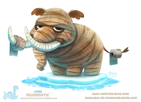 Daily Paint 1786# Mummoth by Cryptid-Creations