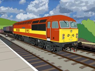 A class 56 goes to Sodor (RWS style) by Edelroark