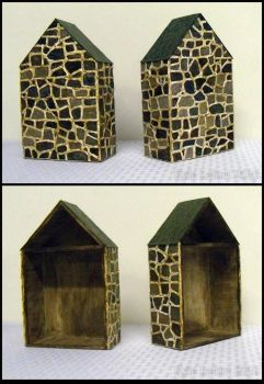 Stone House Shadowboxes by Kyle-Lefort
