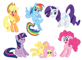 M0ar ponies by GlancoJusticar