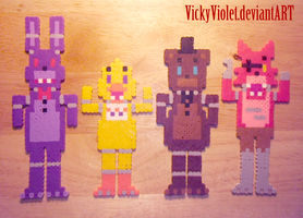 FNAF mini perlers by VickyViolet