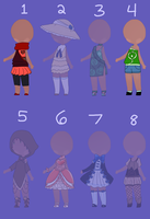 Adoptable Outfits CLOSED by Punkichi