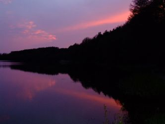 Sunset at the lake by Nivienne