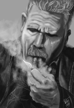 FACE STUDY #11 - Ron Perlman by pictsy