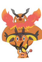 Gen 5 - Tepig Evo Poster by Seraphinae