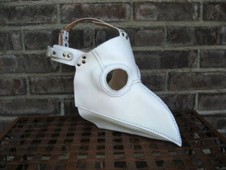 Commission - White Plague Doctor Mask by PeacefulMynd