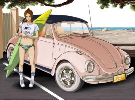Girl and Car by H-SanZenma