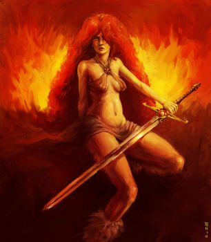 Daily Doodull! - Ginger The Barbarian by ChrisGArt
