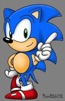 Sonic the Hedgehog old school by Bond2602