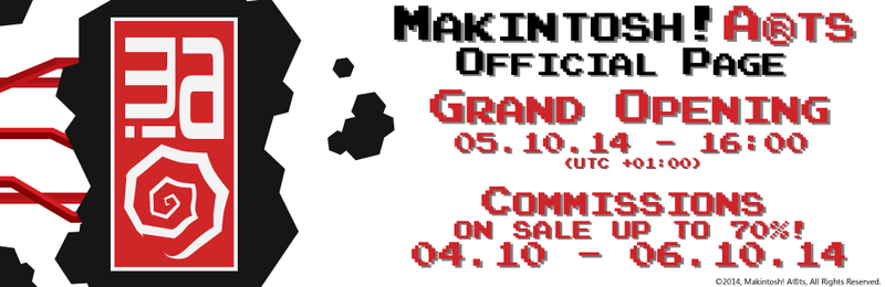 Makintosh! A(r)ts Official Page Opening + SALE by Makintosh91