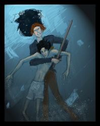 Ron saving Harry by HILLYMINNE