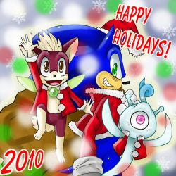 happy holidays 2010 by ss2sonic