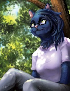Watching The Day Go By - SpeedPaint by GoldenDruid