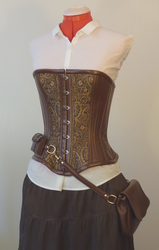 New Steampunk Utility Corset by LillysWorkshop
