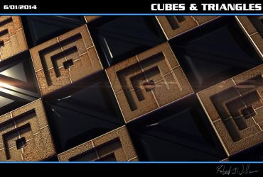 Cubes and Triangles by XFozzboute