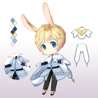 [CLOSED] Adopt #3 Set Price: Bunny Priest by moon-gu