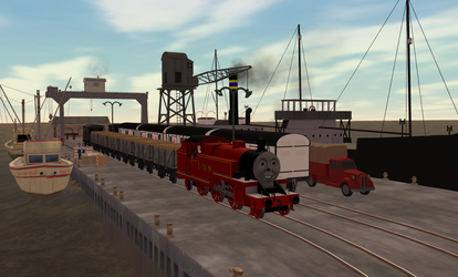 Trainz Arthur collecting fish from the Harbor by Wildcat1999