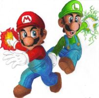 Super Mario Brothers by kcjedi89
