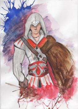 Ezio Auditore drawing by Ghostgirl7