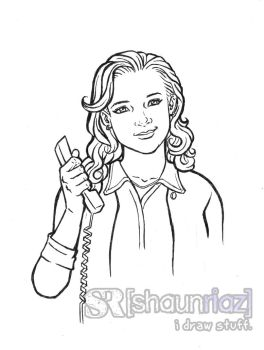 Pam Beesly by shaunriaz