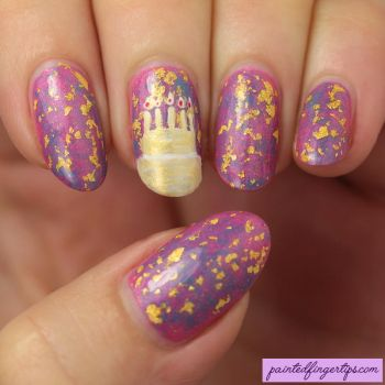 Birthday-cake-nail-art by Painted-Fingertips