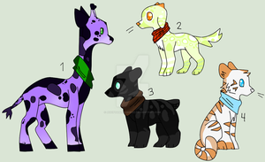 (LOWERED PRICES MOR!!) Mixed Adoptables (OPEN 2/4) by Adoptables-Quest