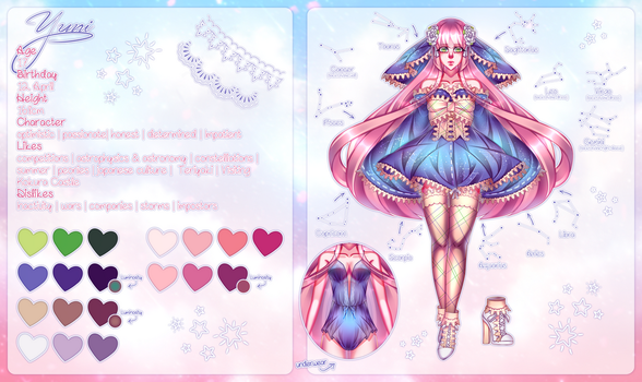 Yuni Reference Sheet by Yahone