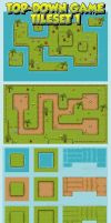 Top-Down Game Tileset 1 by pzUH