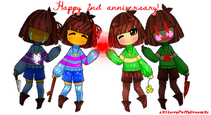 Undertale 2nd Anniversary!!! [ PIXEL] by xXStarryPuffyDreamXx