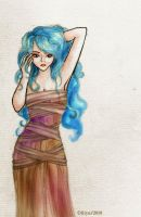 Blue-haired Goddess by willowfairy22