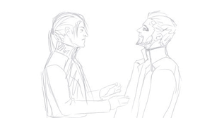 Adam and Pritchard kissing gif [fixed] by JJ-Power