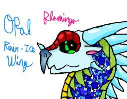 Opal the Rain/IceWing by FlamingGatorGirl