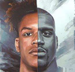 Shareef and Shaquile O'Neal Artwork by skythlee