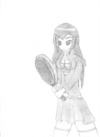 a girl with a fryingpan :D by Hirotaka666