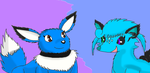 Two icy fox pokemon by thedragonlover95