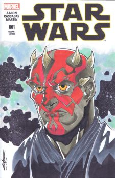 Star Wars #1: Darth Maul by Pencilero