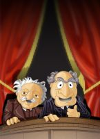 Waldorf and Statler by Pencilbags
