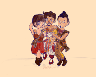 The Dream Team - Avad, Ersa, and Balahn from HZD by jadefyres-freedom