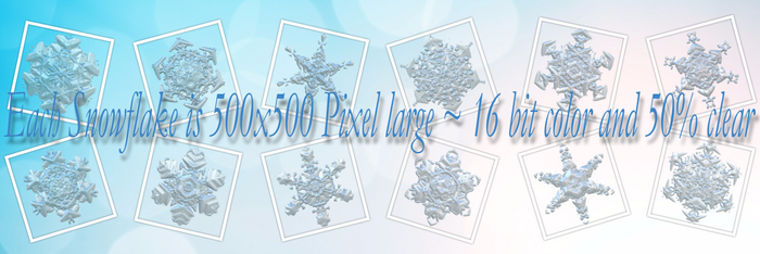 Snowflakes Ice Crystals Winter Clear PNG Pack 1 by AStoKo