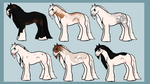 Horse adopts (2/6) by Stripe13