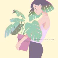 monstera - GIF by Yaphleen