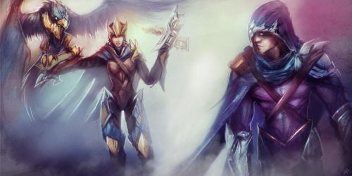 League of Legends Rivals: Quinn/Valor vs Talon by Aths-Art
