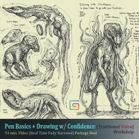 2 New Traditional Pen sketching Workshops by MIKECORRIERO