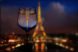 Glassed Tour Eiffel - Wallpaper by ByDGX