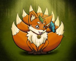 Trever the 9-tailed fox by Lindsay-N-Poulos