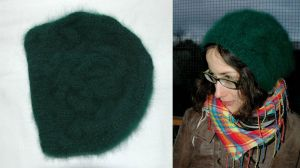 Green Slouchy Beret by honeymil