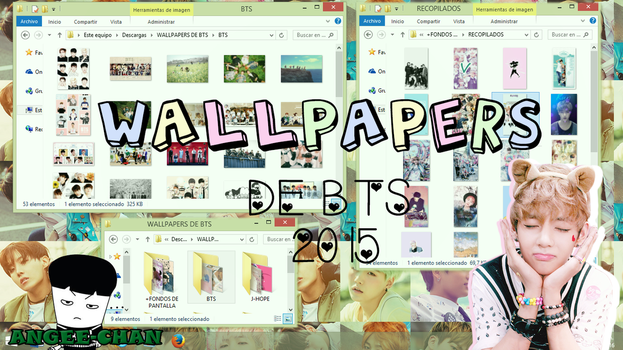 WALLPAPERS DE BTS +FONDOS DE PANTALLA by ANGEE-CHANN