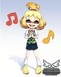 Splatoon Isabelle (9 14 2018) by theskywaker