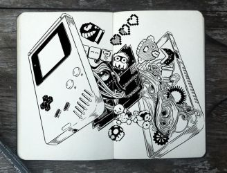 #311 Inside of a Game Boy by Picolo-kun
