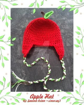 Crochet: Apple hat by simonsaz3